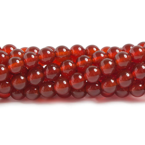 6mm Carnelian plain round beads 15 inch 65 pieces