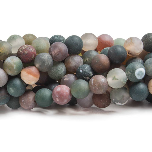 6mm Matte Fancy Jasper plain round beads 15 inch 61 pieces