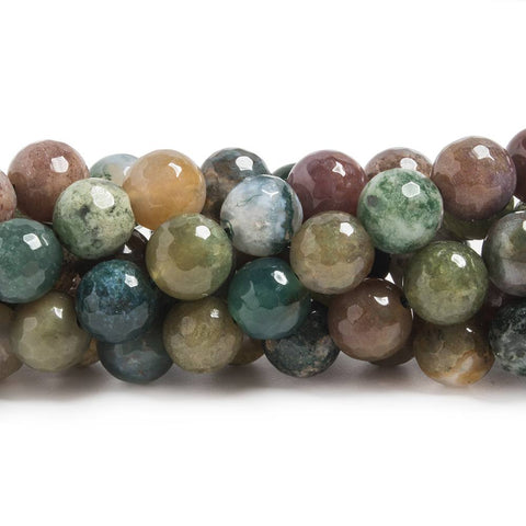 Superior quality 8mm Fancy Jasper faceted round beads 15 inch 48 pieces - Buy From The Bead Traders Online Store.