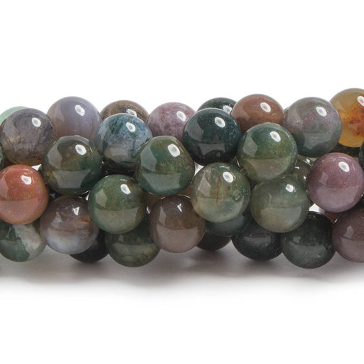 8mm Fancy Jasper plain round beads 15 inch 48 pieces
