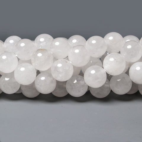 High quality 10mm White Jade plain round Beads 16 inch 30 pieces - Buy From The Bead Traders Online Store.