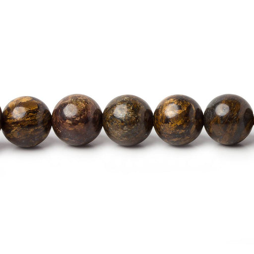 8mm Bronzite plain round beads 15.5 inch 47 pieces