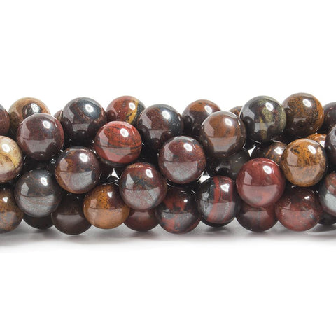 Best selling 8mm Tiger Iron Jasper plain round beads 15.5 inch 51 pieces - Buy From The Bead Traders Online Store.