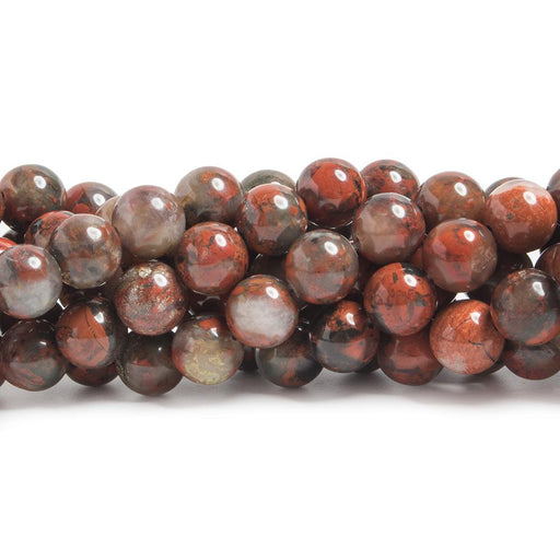 8mm Poppy Jasper plain round beads 15.5mm 48 pieces