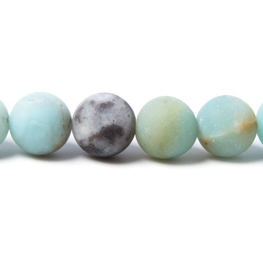 10mm Matte Multi Color Amazonite plain round Beads 15 inch 38 pieces