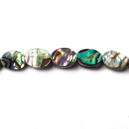 8x6mm Abalone plain oval beads 15.5 inch 49 pieces