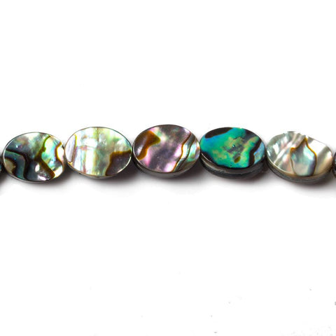 Premium quality 8x6mm Abalone plain oval beads 15.5 inch 49 pieces - Buy From The Bead Traders Online Store.