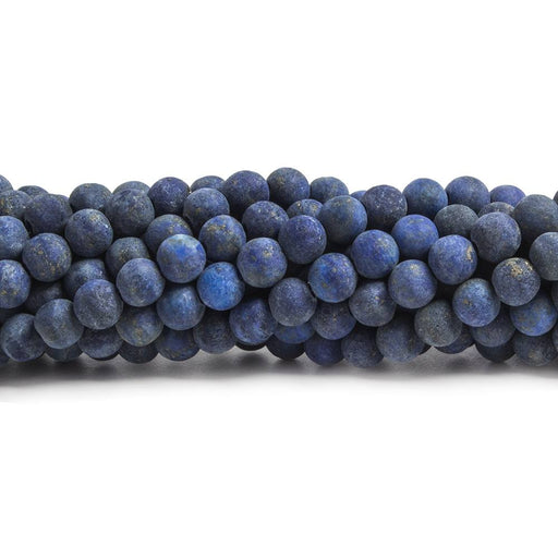 4mm Matte Lapis Lazuli plain round beads 15 inches 92 pieces