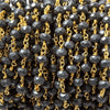 6mm Matte Hematite faceted rondelle Gold plated Chain by the foot 28 pcs