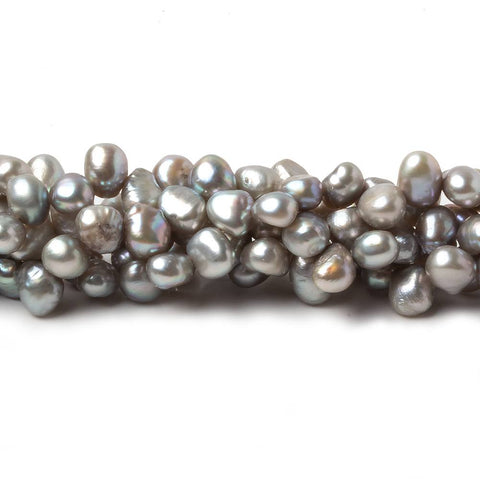 5-6mm Silver Baroque Freshwater Pearls, 15 inch