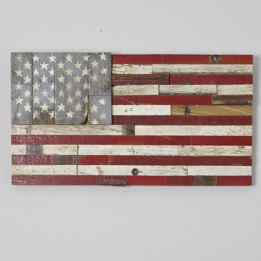 American flag made from 1950 Chevy-Small