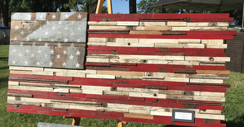 American flag made from 1950 Chevy-Large