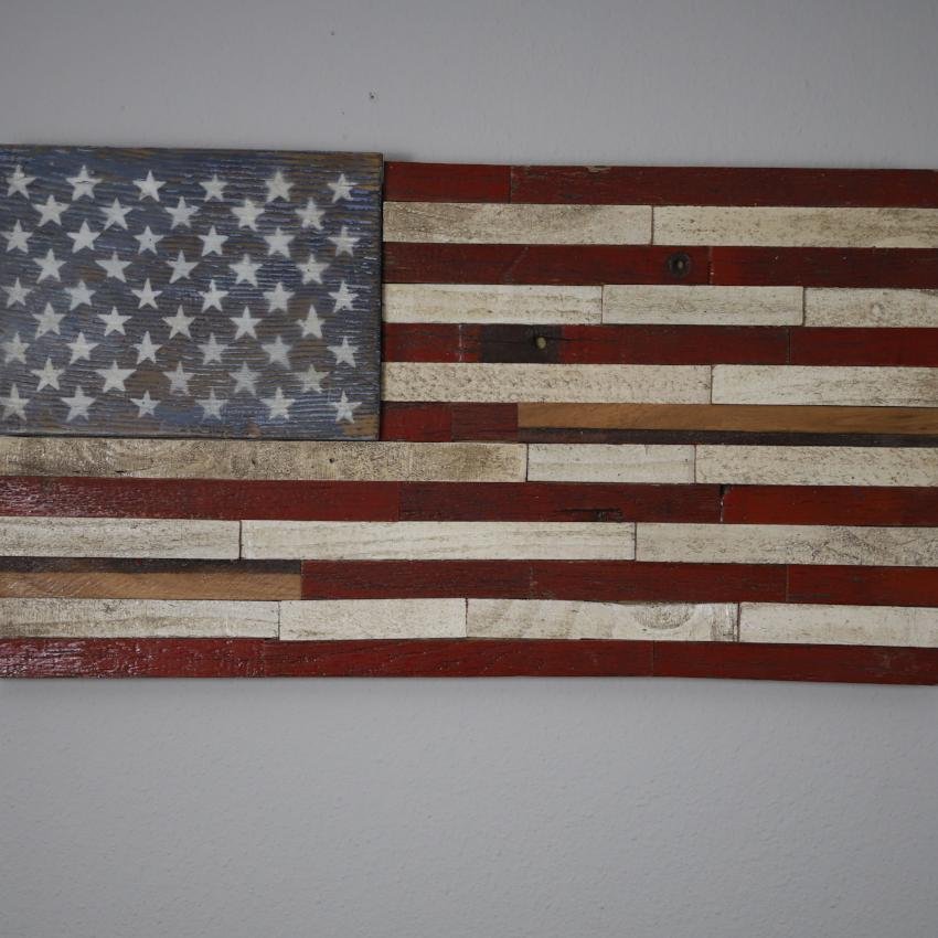American flag made from 1950 Chevy-Medium
