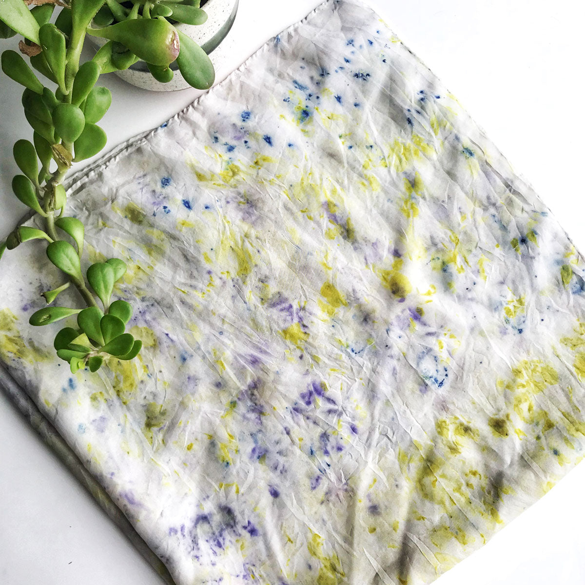 Botanically Dyed Silk Kerchief