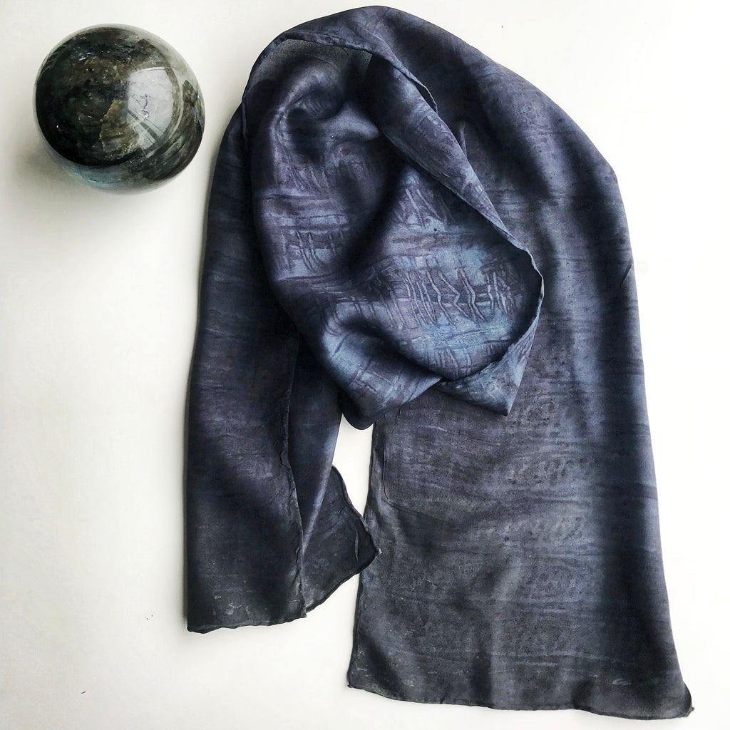 Botanically Dyed Silk scarf/head band