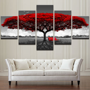 Red Tree Canvas Painting