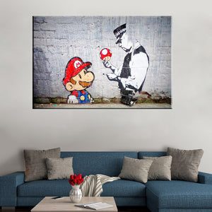 Mario Canvas Painting