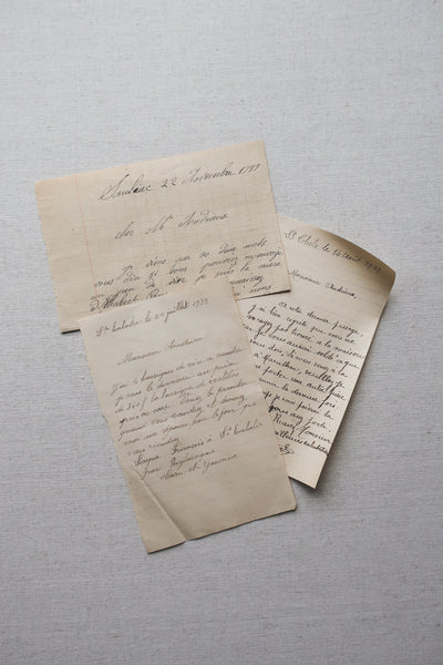 1890s Antique French Paper Notes