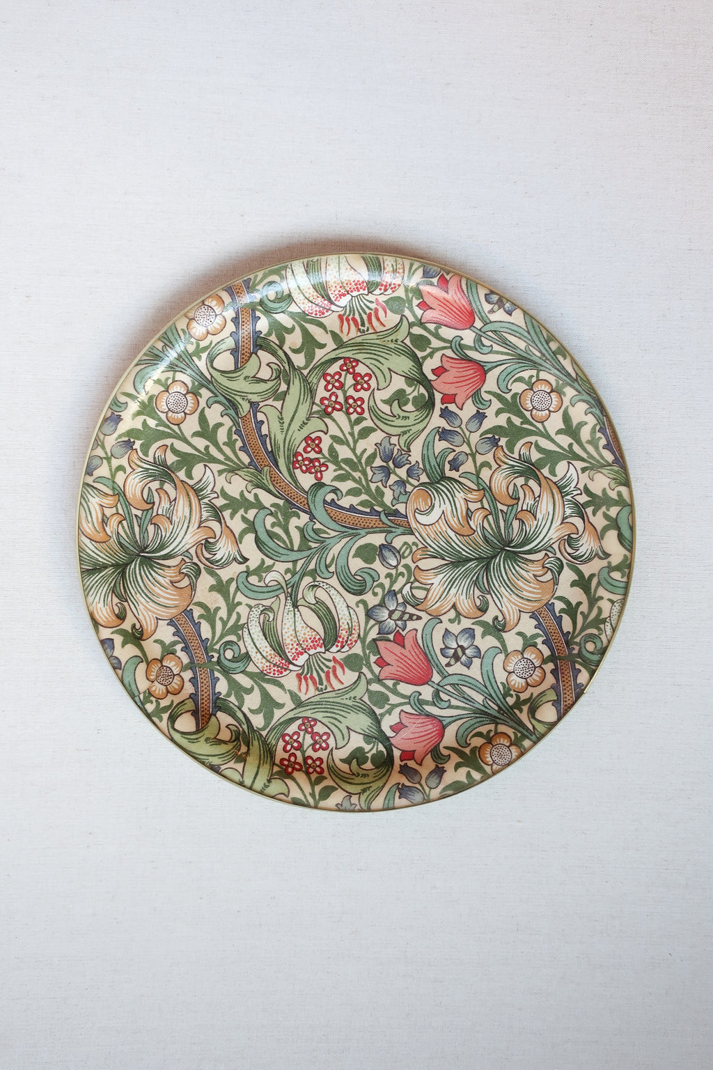 Vintage British Floral Serving Tray Rental