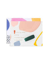 Abstract art wedding note card from Moglea for modern weddings