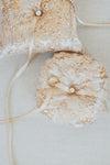 Metallic Brocade Ring Bearer Pillow