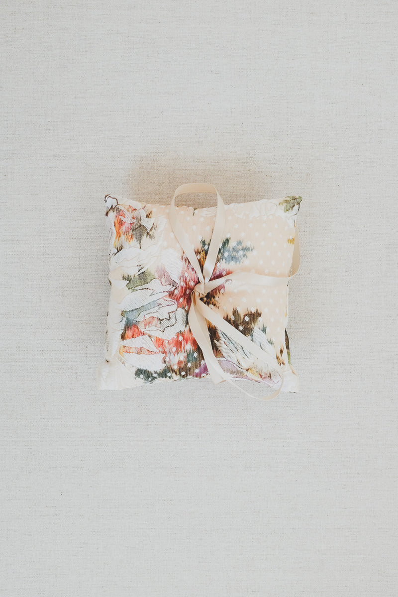 Floral Brocade Ring Bearer Pillow