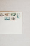 Something Green Vintage Postage Stamps, Set for 10 Letters