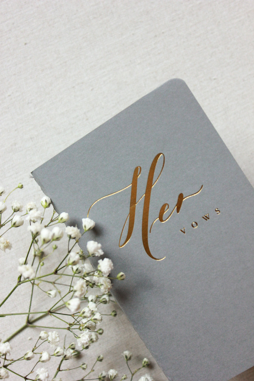 His & Hers Grey Vow Journals