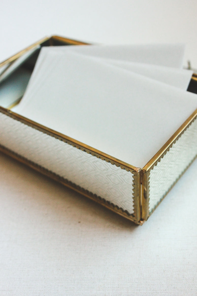 Vintage Mirrored Wedding Card Box