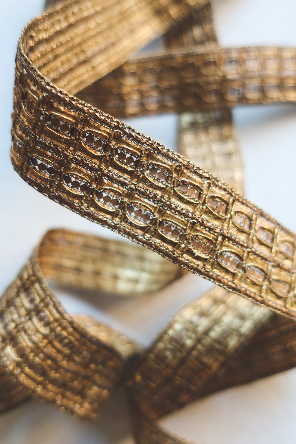 Gold Sequin Intricate Ribbon
