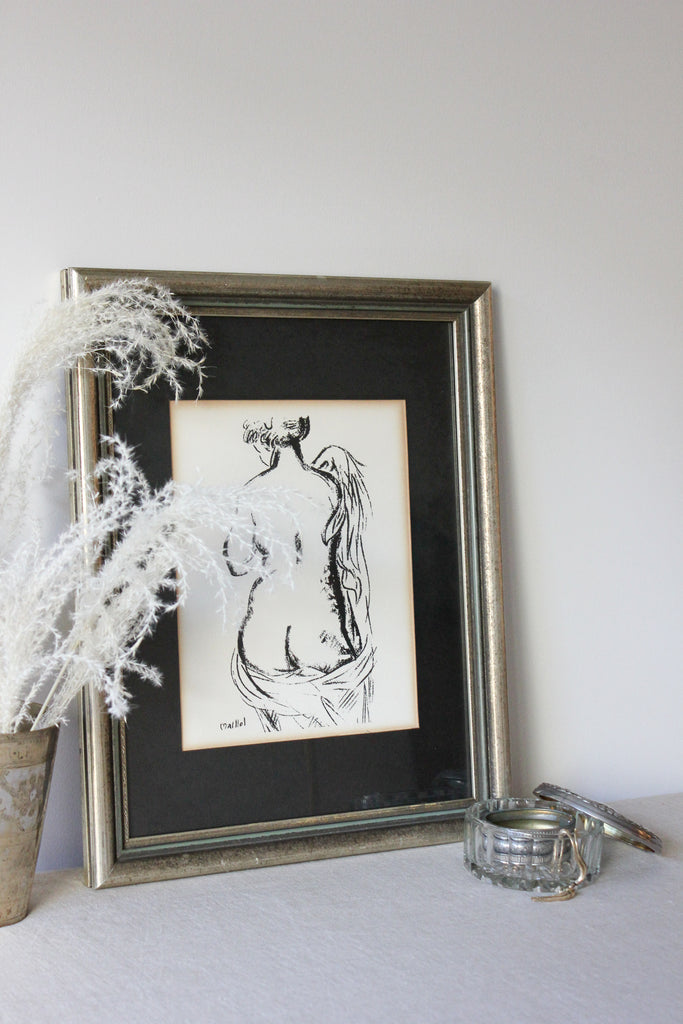 French Nude Lithograph Print