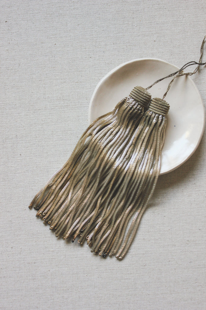 Antique French Silver Tassel