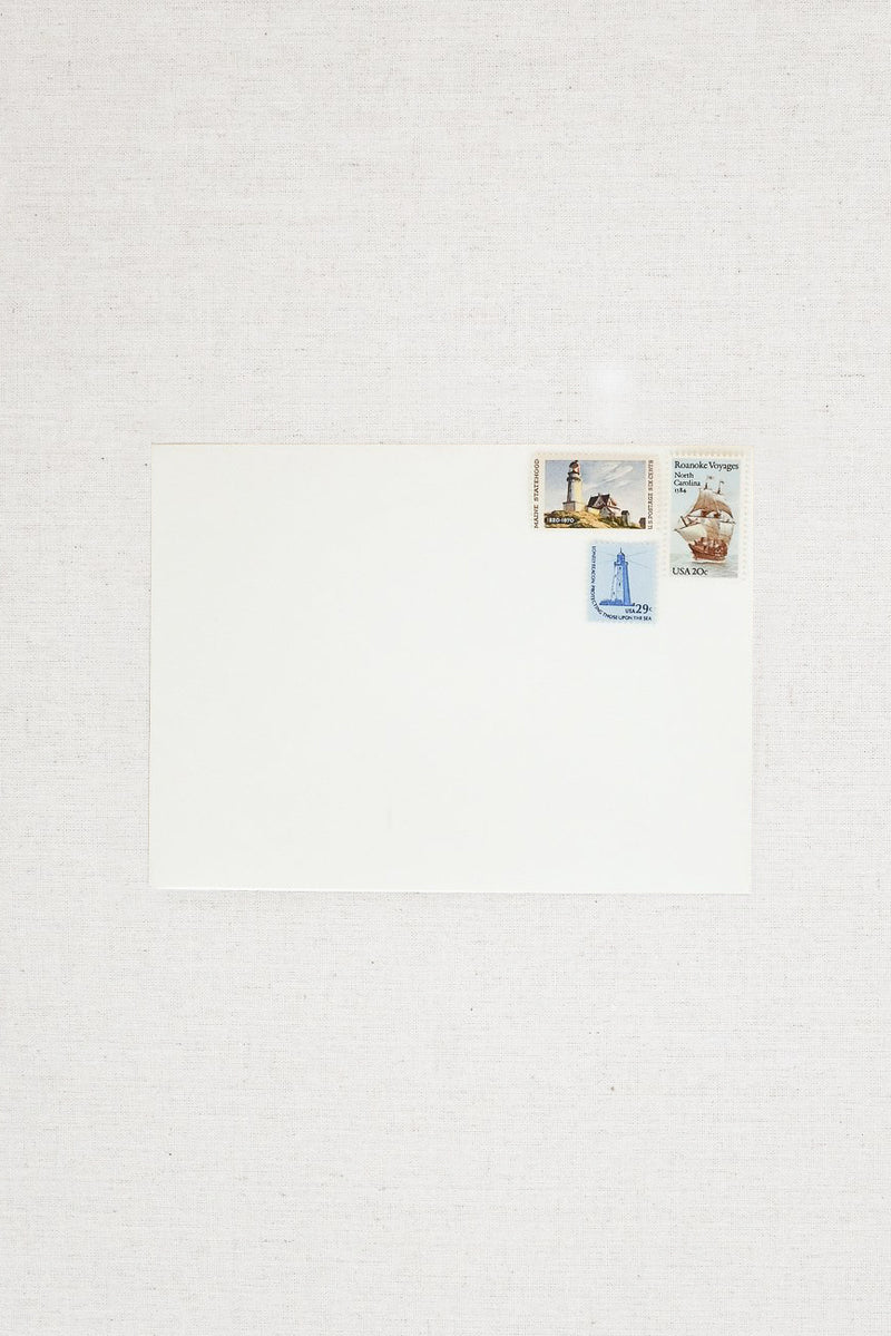 Nautical Vintage Postage Stamp Set