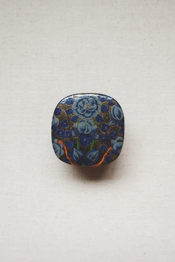 Vintage Floral Painted Trinket Box