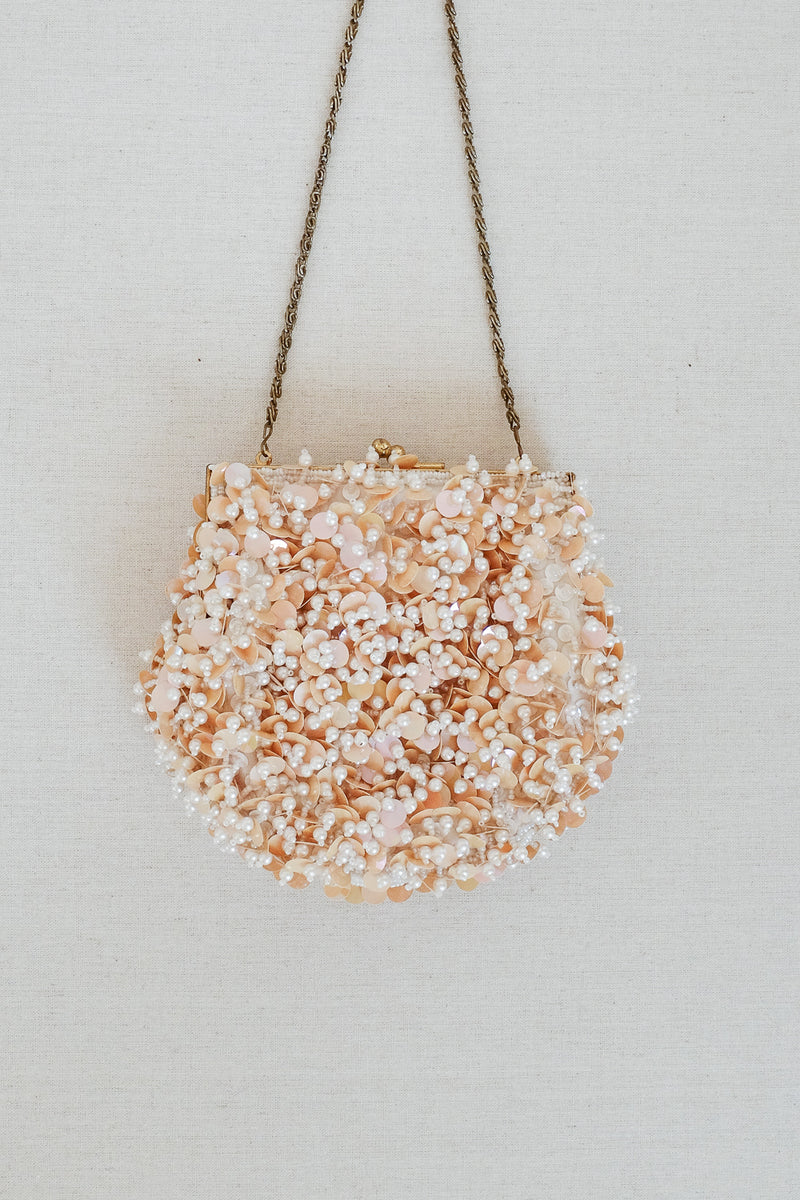 Daphne Blush Pearl & Sequin Bag