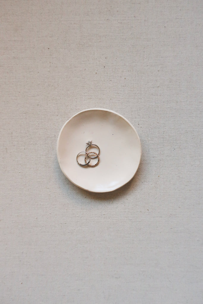 Handmade Stoneware Ring or Styling Dish, Large