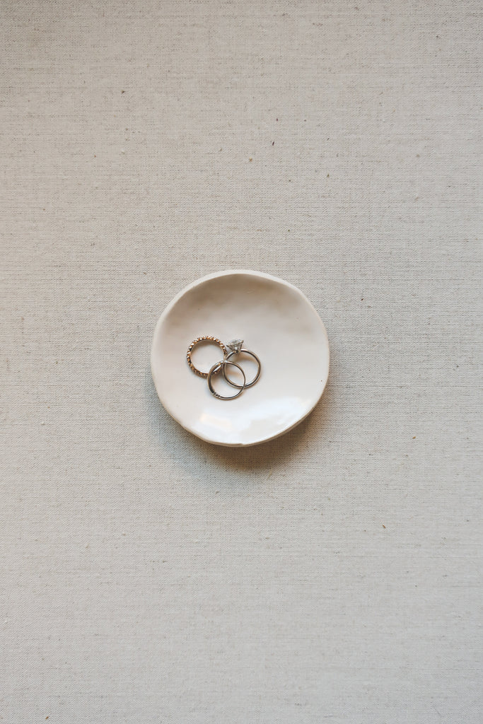 Handmade Stoneware Ring or Styling Dish, Small