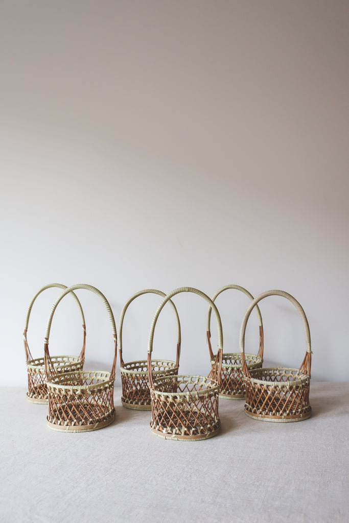 Vintage 1970s Flower Girl Baskets
