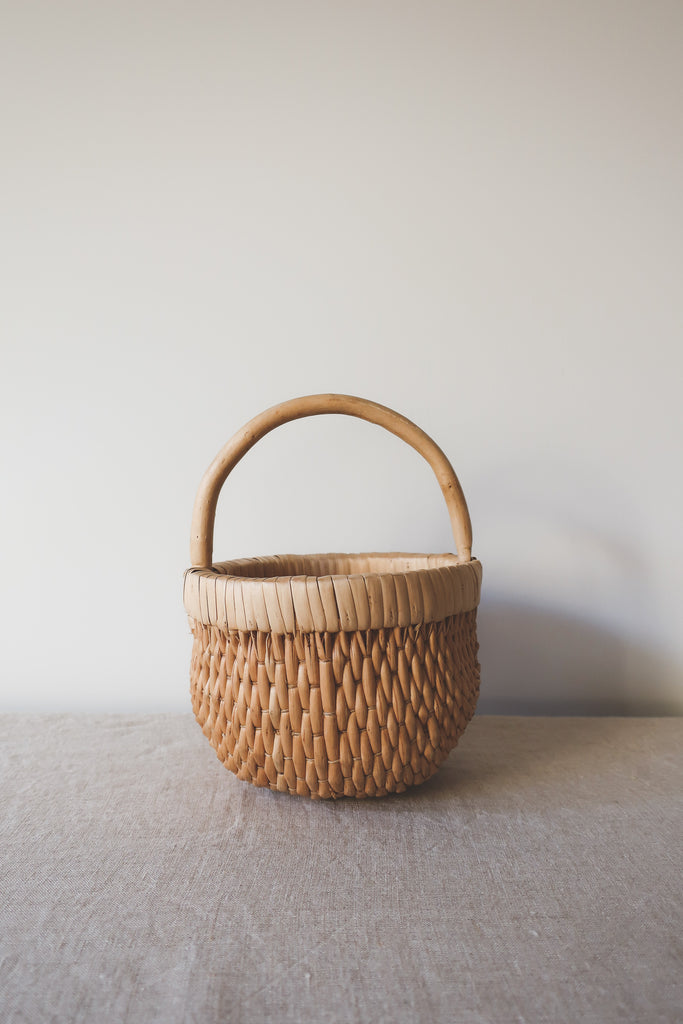 Vintage Wicker Flower Girl Basket
