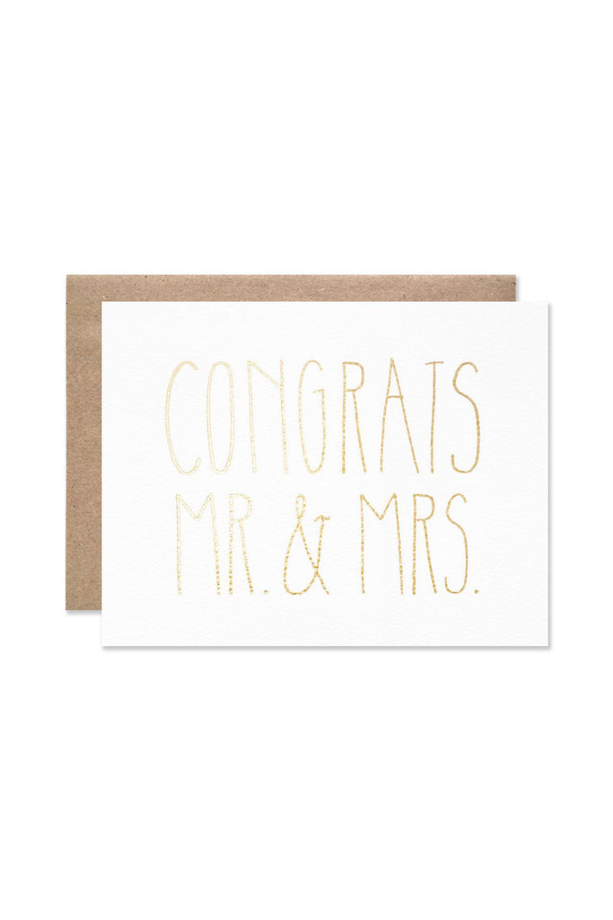 Golden Couple Wedding Greeting Card