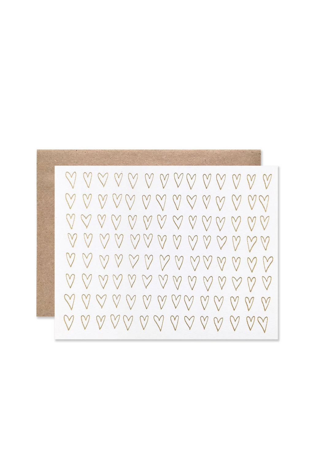 Hearts of Gold Greeting Card