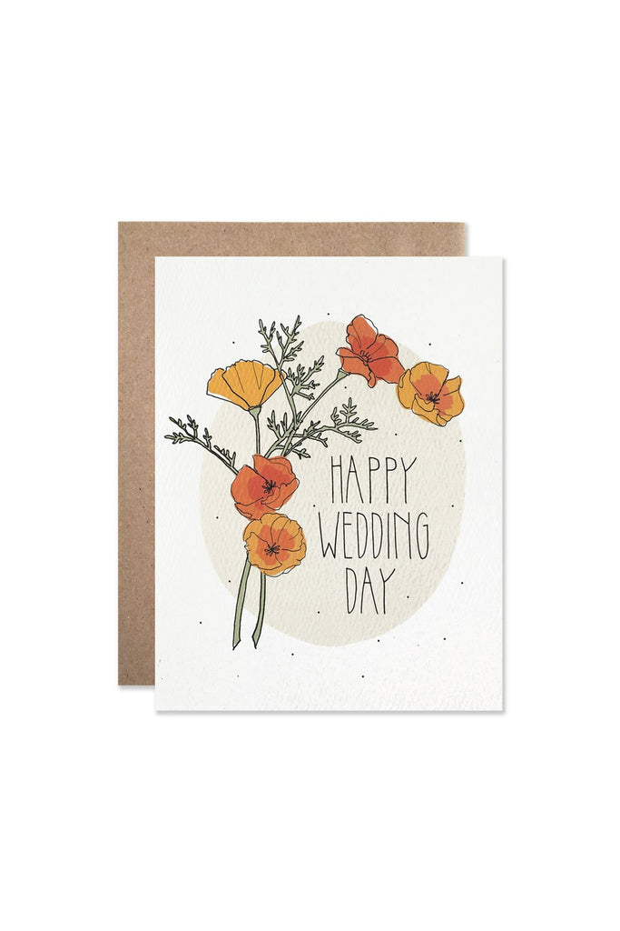 Poppies Wedding Greeting Card
