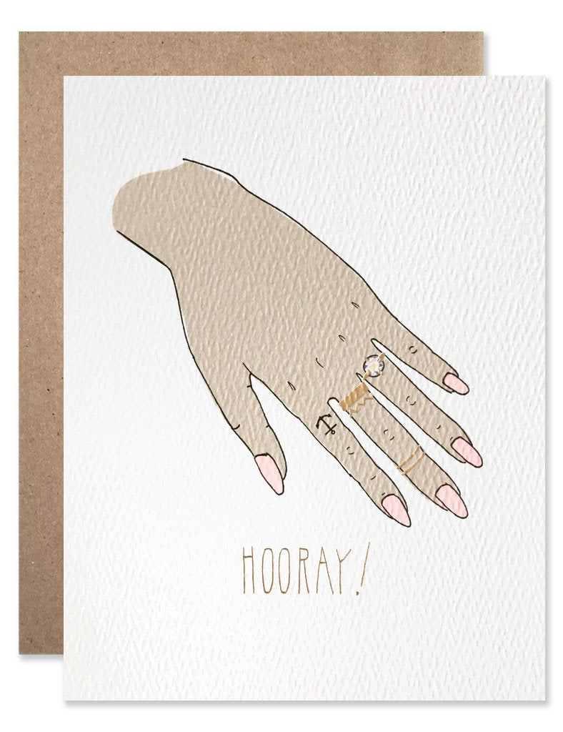 Check Out Her Hand Greeting Card