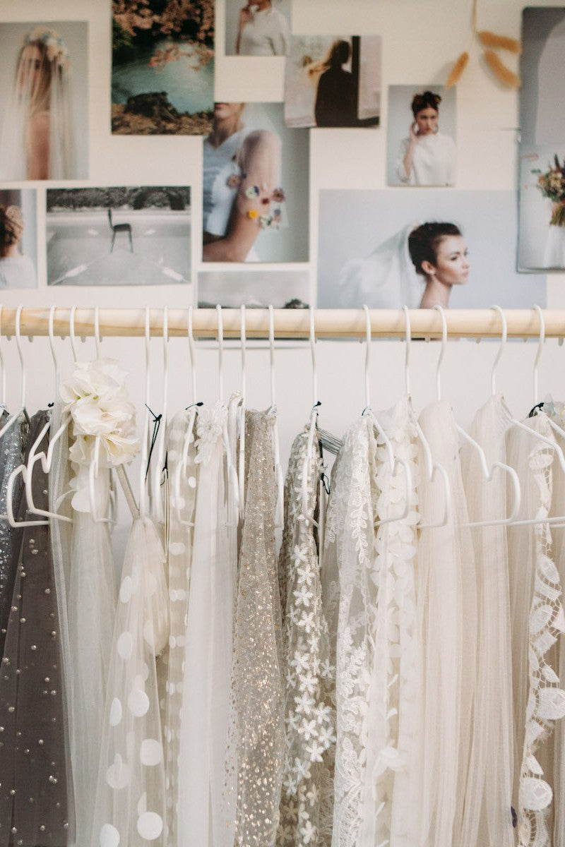 STEP INSIDE A BRIDAL DESIGNER'S STUDIO