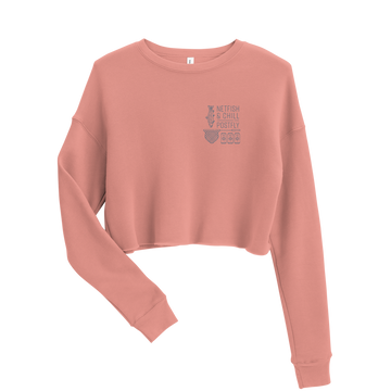 Chica's Cropped Netfish & Chill Crewneck