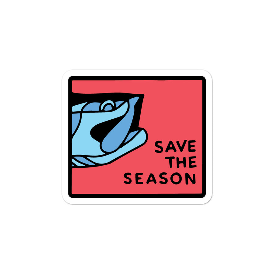 Save The Season Tarpon Banner Sticker