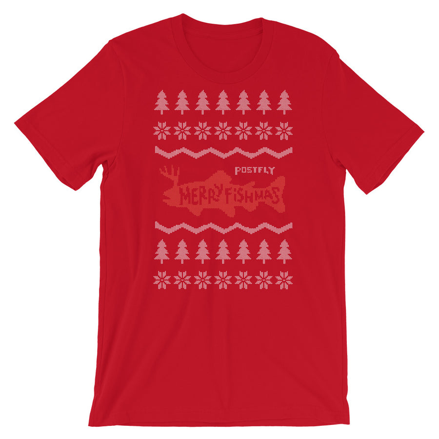 Merry Fishmas Ugly Sweater Tee