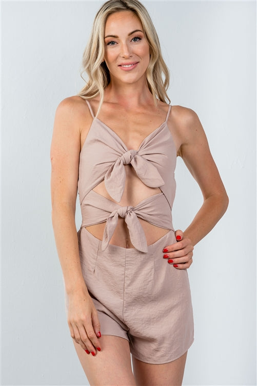 The Blaine Tie Front Romper