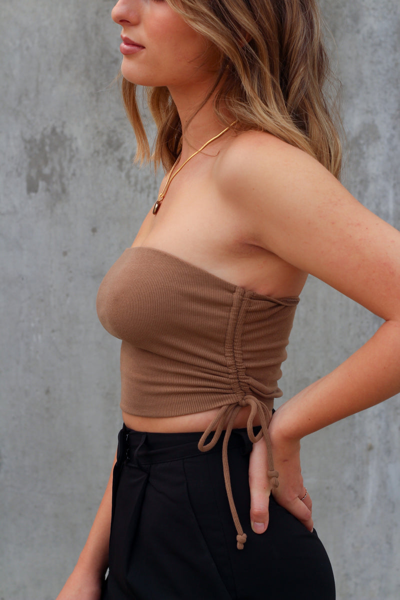 The Kiva Crop Top (Mocha)