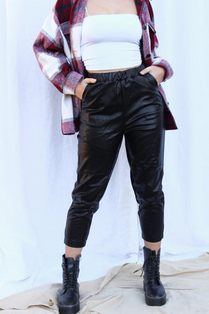 The Sorrell Vegan Leather Pants